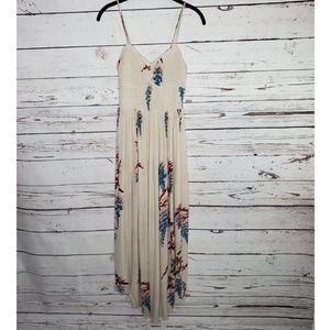 Free People Beau Smocked Printed Slip Dress